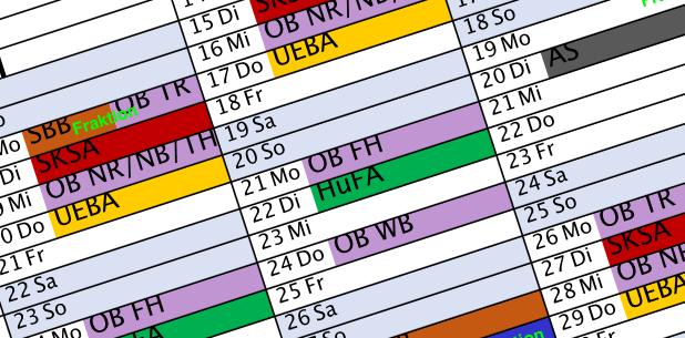Fraktionssitzungen und Terminkalender